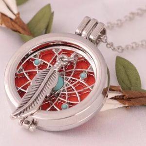 Jewelry - Dream Catcher Feather Essential Oil Diffuser